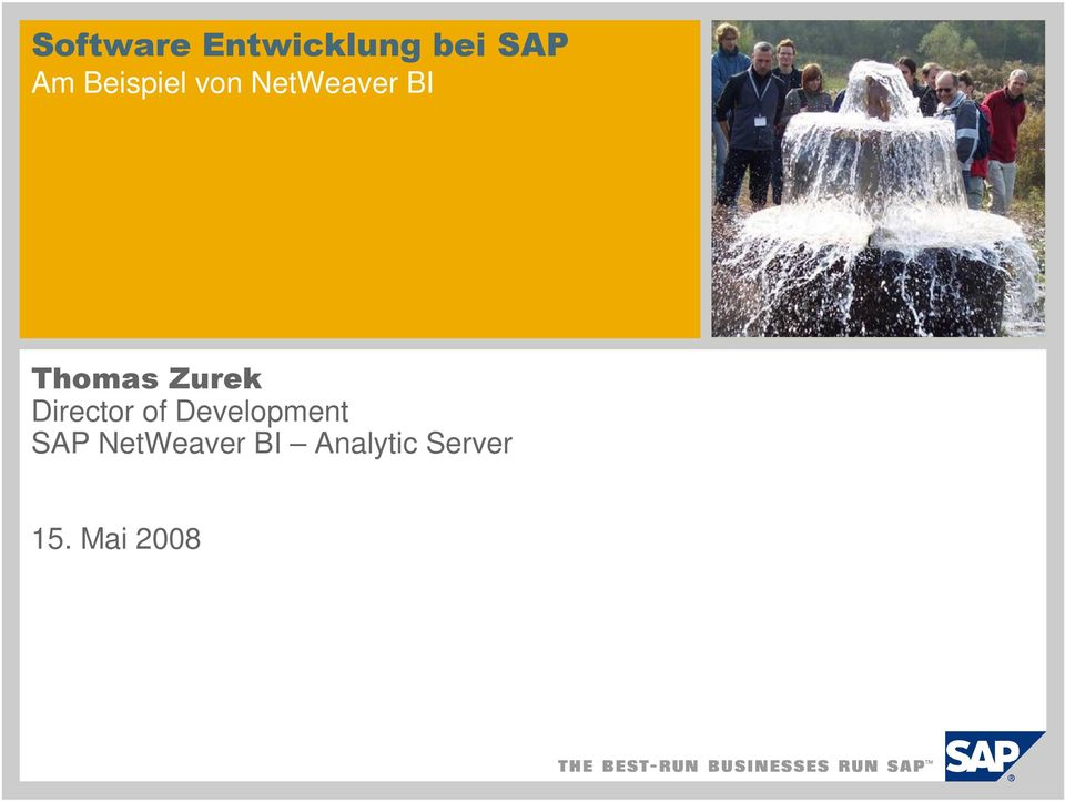 Zurek Director of Development SAP