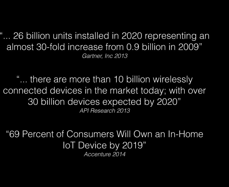 .. there are more than 10 billion wirelessly connected devices in the market today;