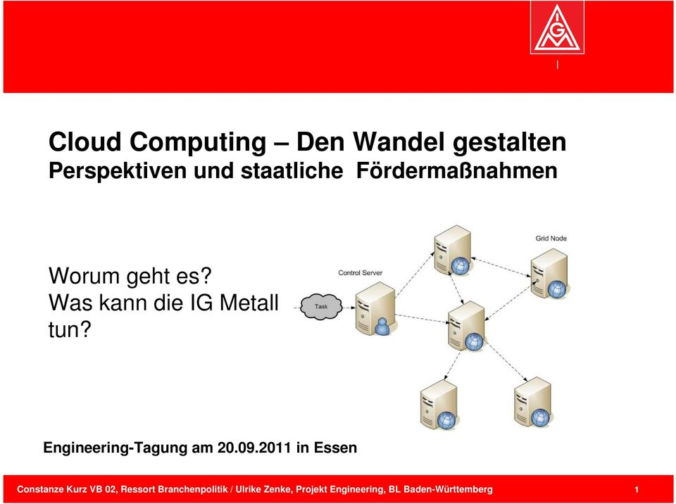 Engineering-Tagung am 20.09.