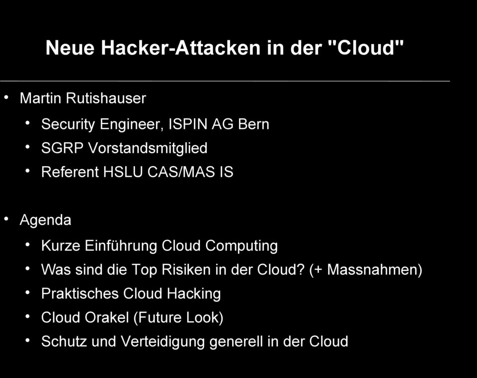 Computing Was sind die Top Risiken in der Cloud?