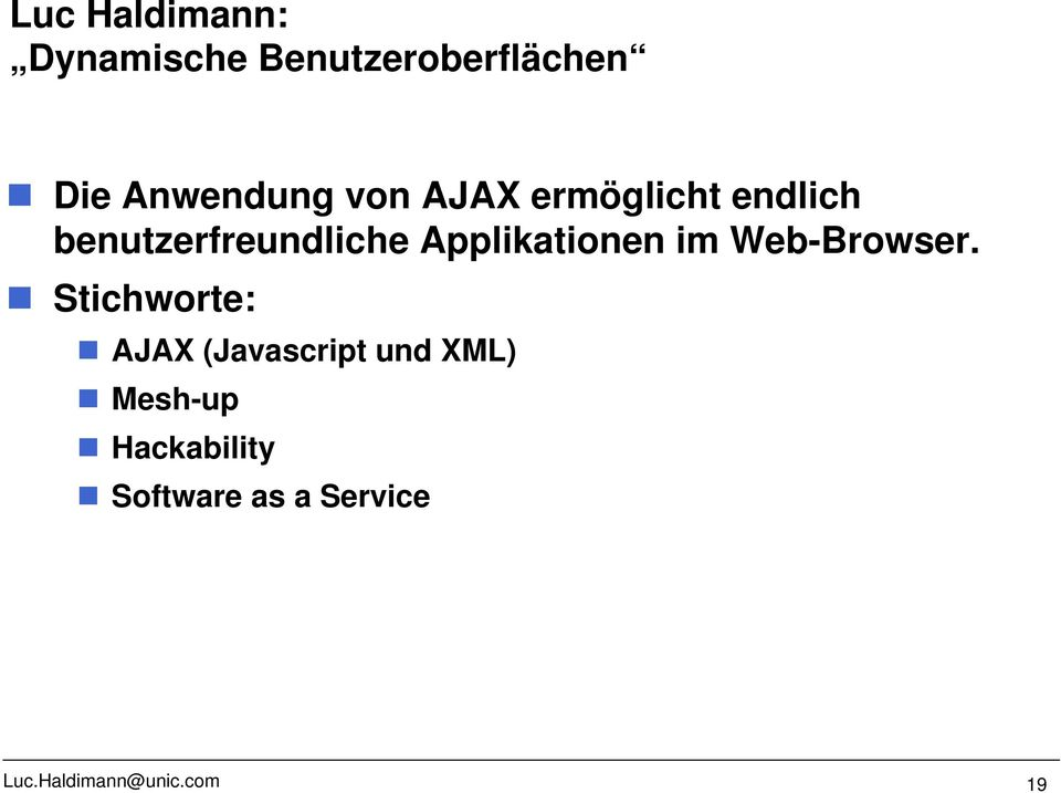 Applikationen im Web-Browser.