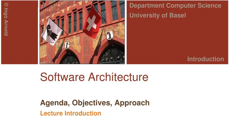 Introduction Software Architecture