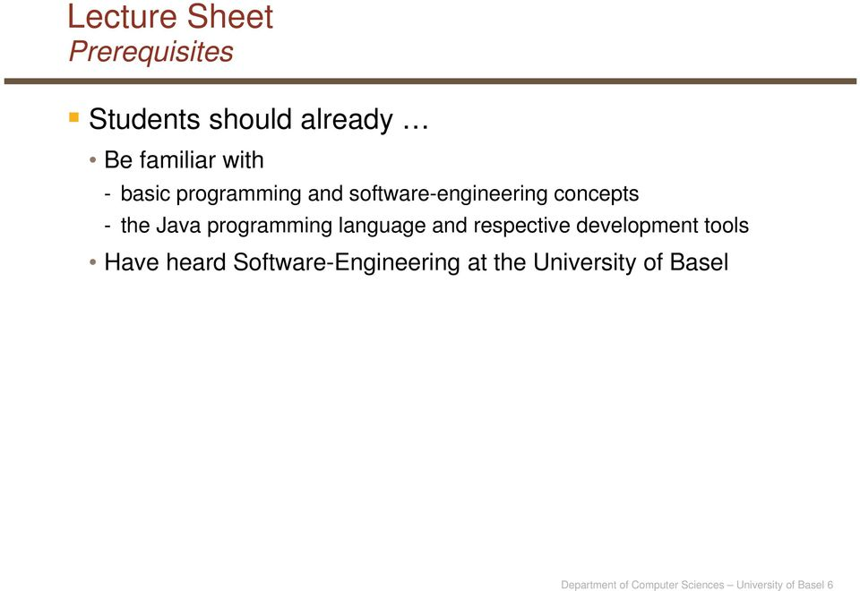 language and respective development tools Have heard Software-Engineering