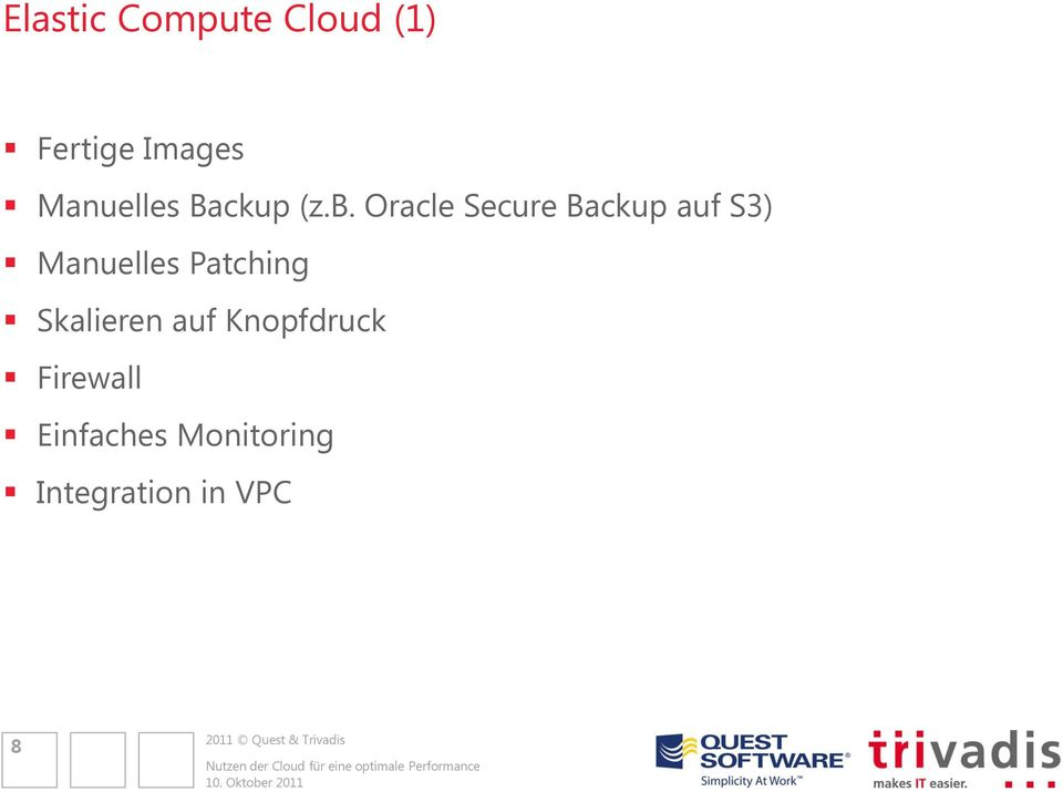 Oracle Secure Backup auf S3) Manuelles
