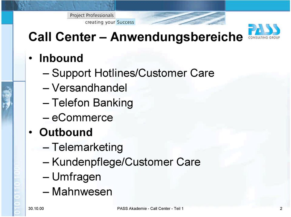 ecommerce Outbound Telemarketing Kundenpflege/Customer