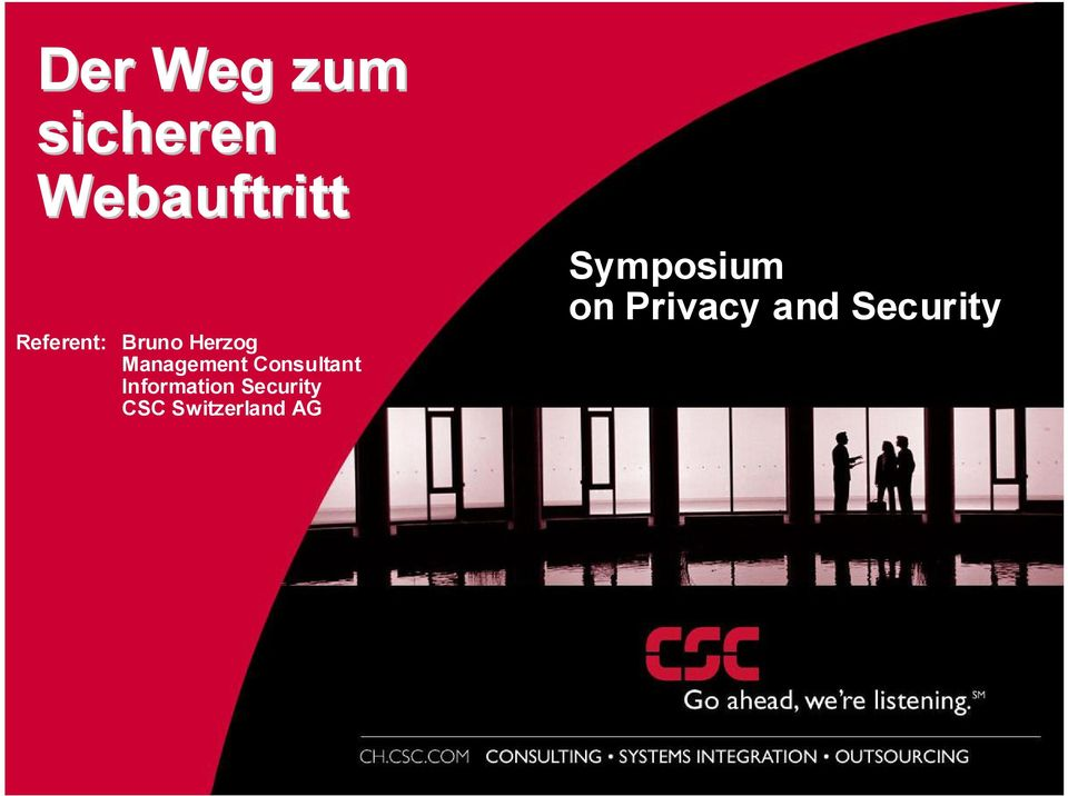 Security CSC Switzerland AG Symposium on