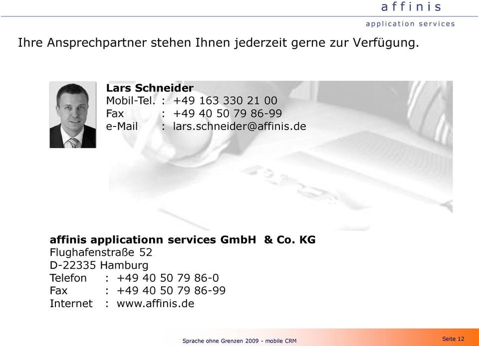 de affinis applicationn services GmbH & Co.
