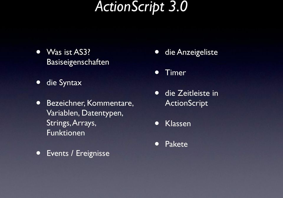 Variablen, Datentypen, Strings, Arrays, Funktionen
