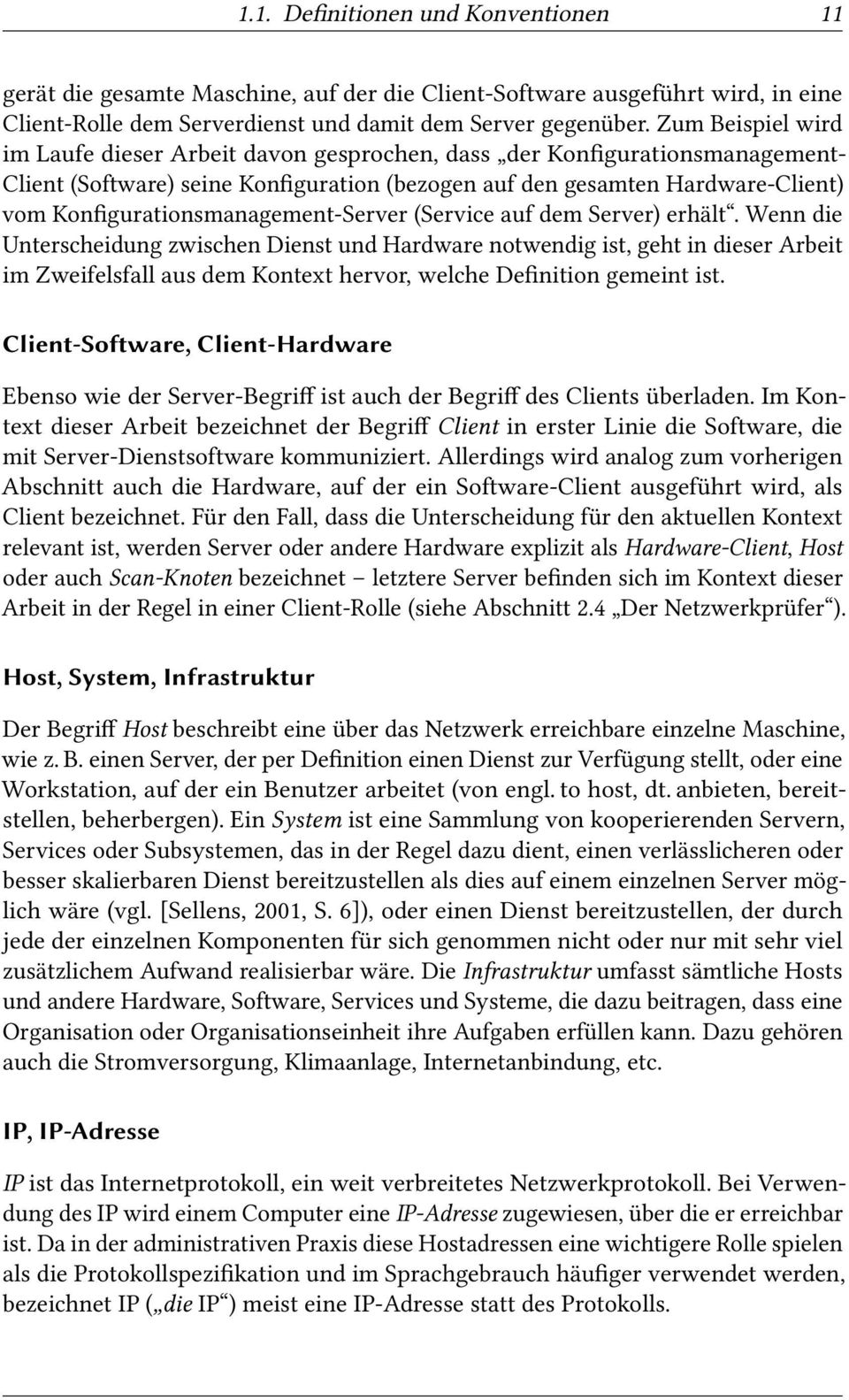 Konfigurationsmanagement-Server (Service auf dem Server) erhält.