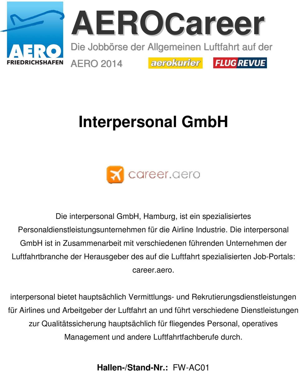 Job-Portals: career.aero.