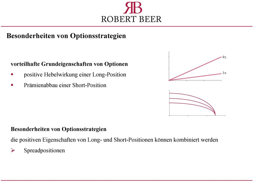 Short-Position Besonderheiten von Optionsstrategien die positiven