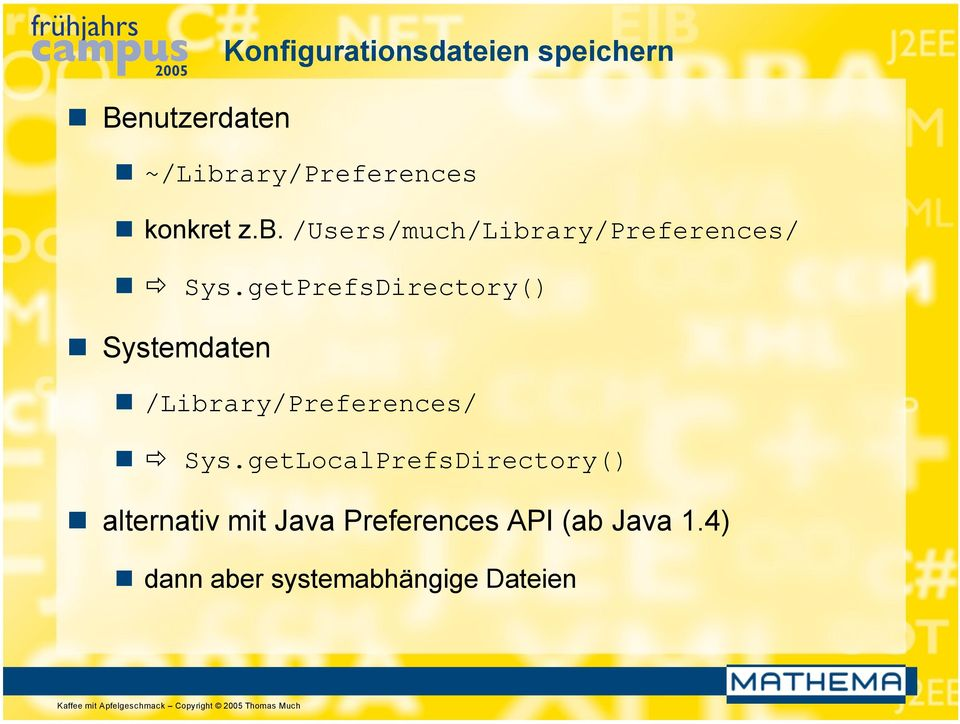 getPrefsDirectory() Systemdaten /Library/Preferences/ Sys.