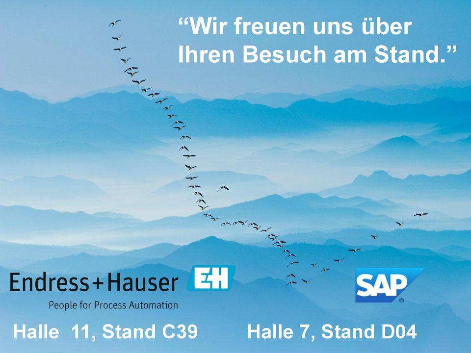 Halle 11, Stand C39 2013 SAP AG or