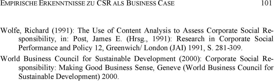 , 1991): Research in Corporate Social Performance and Policy 12, Greenwich/ London (JAI) 1991, S. 281-309.