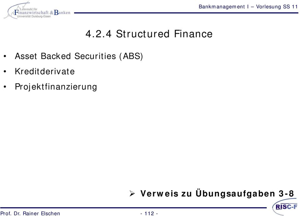2.4 Structured Finance Verweis zu