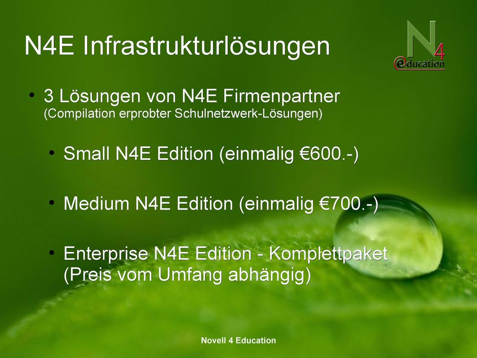 (einmalig 600.-) Medium N4E Edition (einmalig 700.