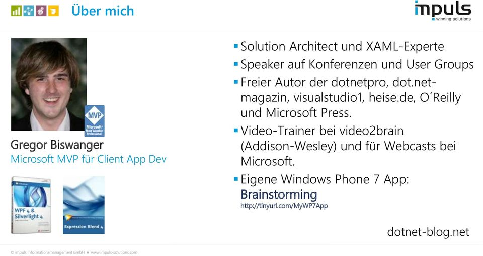 netmagazin, visualstudio1, heise.de, O Reilly und Microsoft Press.