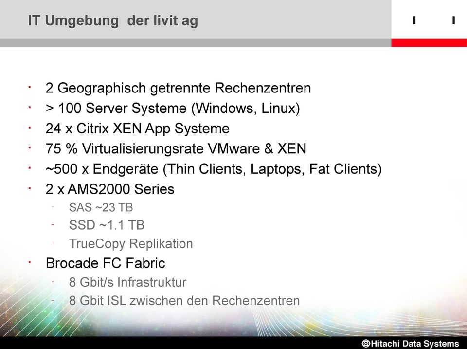 Endgeräte (Thin Clients, Laptops, Fat Clients) 2 x AMS2000 Series SAS ~23 TB SSD ~1.