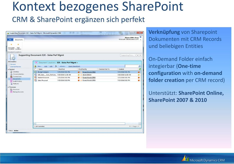 Entities On-Demand Folder einfach integierbar (One-time configuration with