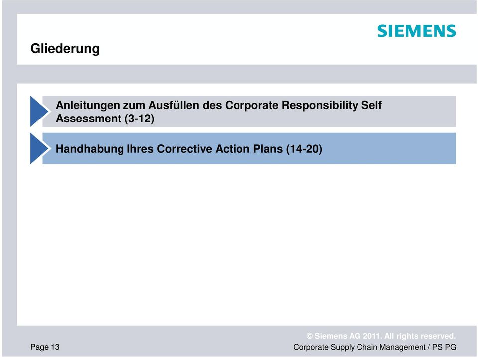 Responsibility Self Assessment