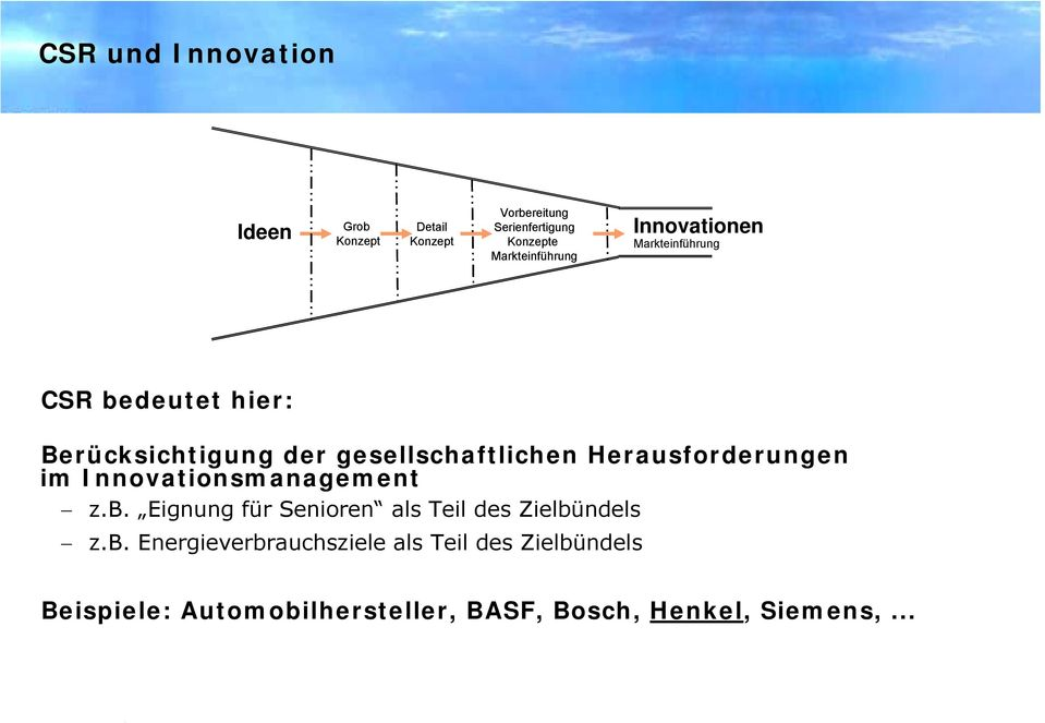 Herausforderungen im Innovationsmanagement z.b.