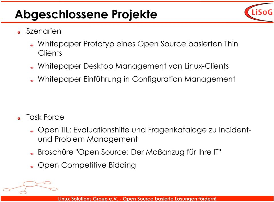 Configuration Management Task Force OpenITIL: Evaluationshilfe und Fragenkataloge zu
