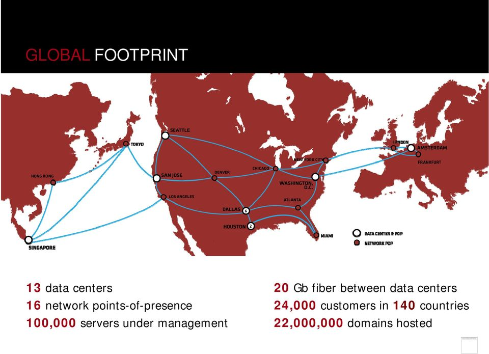 points-of-presence 24,000 customers in 140