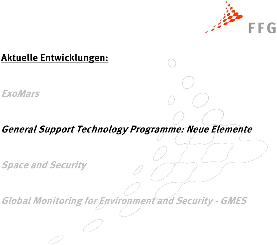 Neue Elemente Space and Security