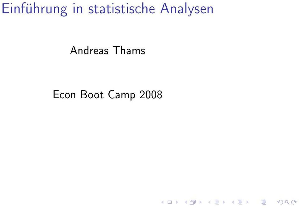 Analysen Andreas
