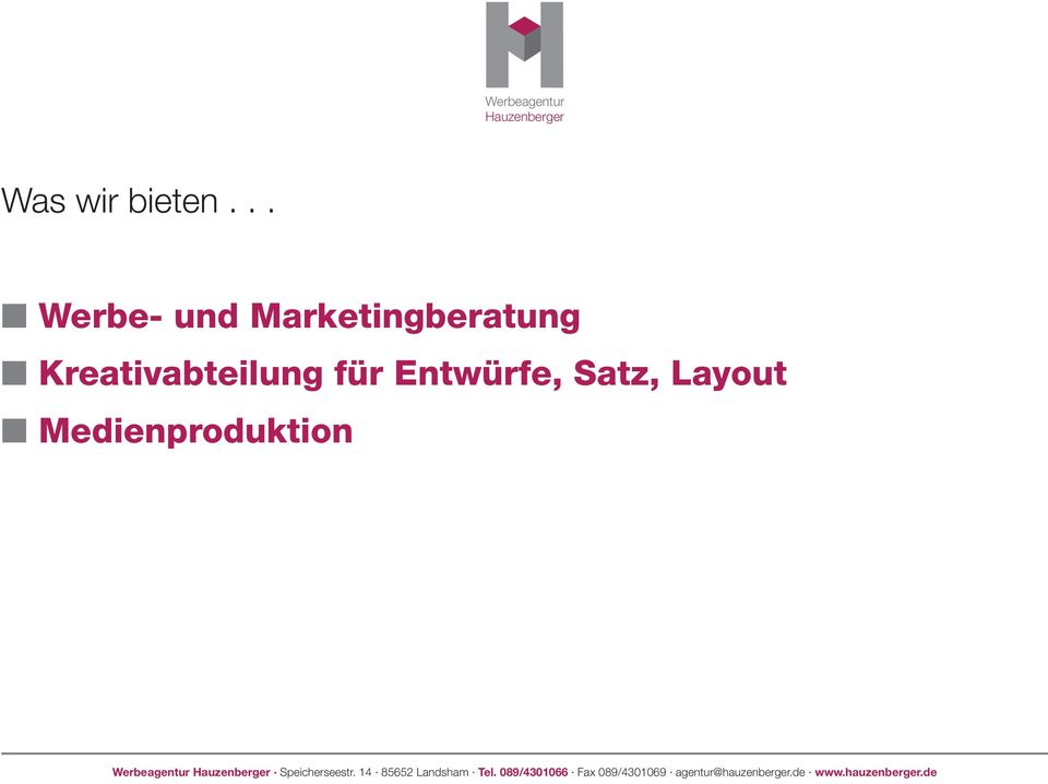 Marketingberatung n