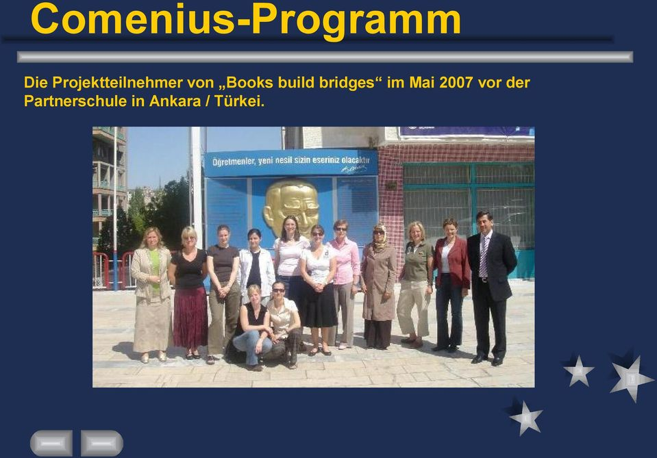 build bridges im Mai 2007 vor