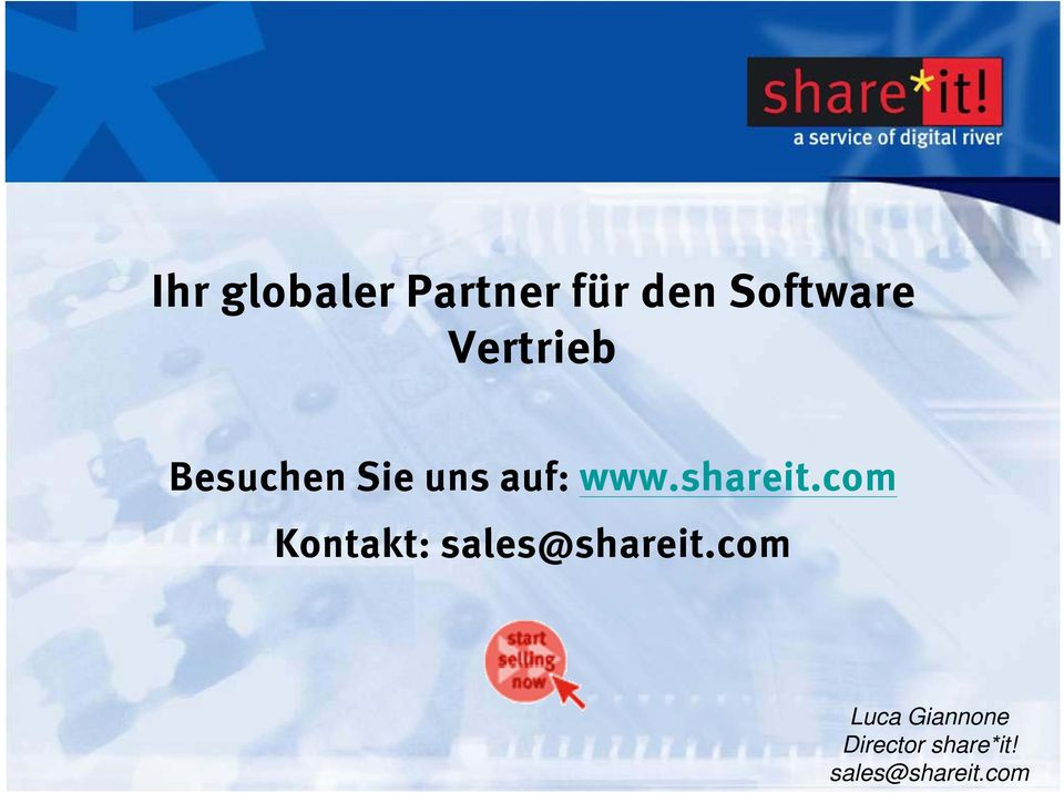 shareit.com Kontakt: sales@shareit.