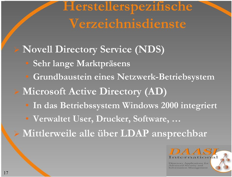 Microsoft Active Directory (AD) In das Betriebssystem Windows 2000