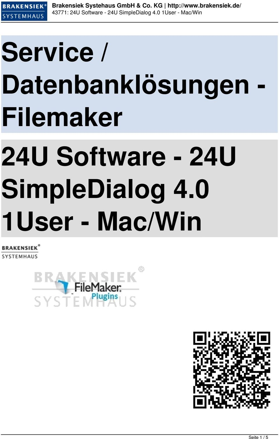 Filemaker 24U Software -