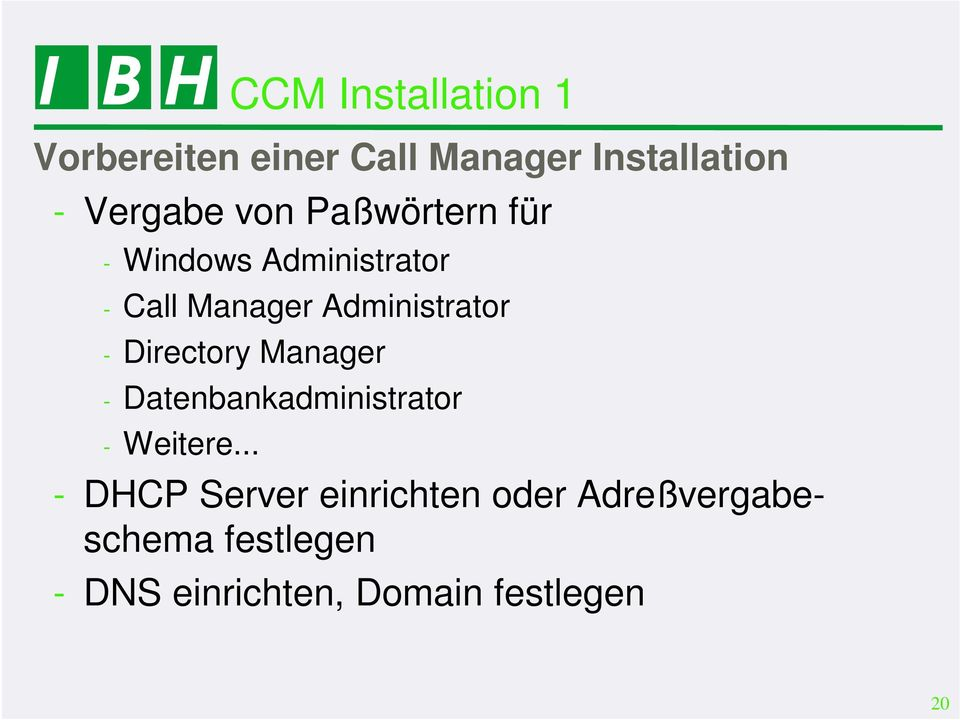Directory Manager - Datenbankadministrator - Weitere.