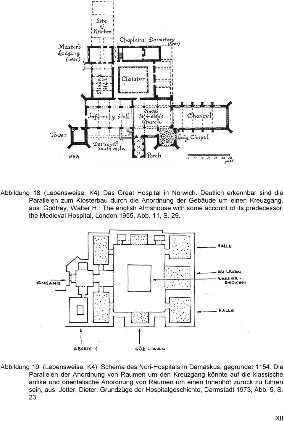 : The english Almshouse with some account of its predecessor, the Medieval Hospital, London 1955, Abb. 11, S. 29.