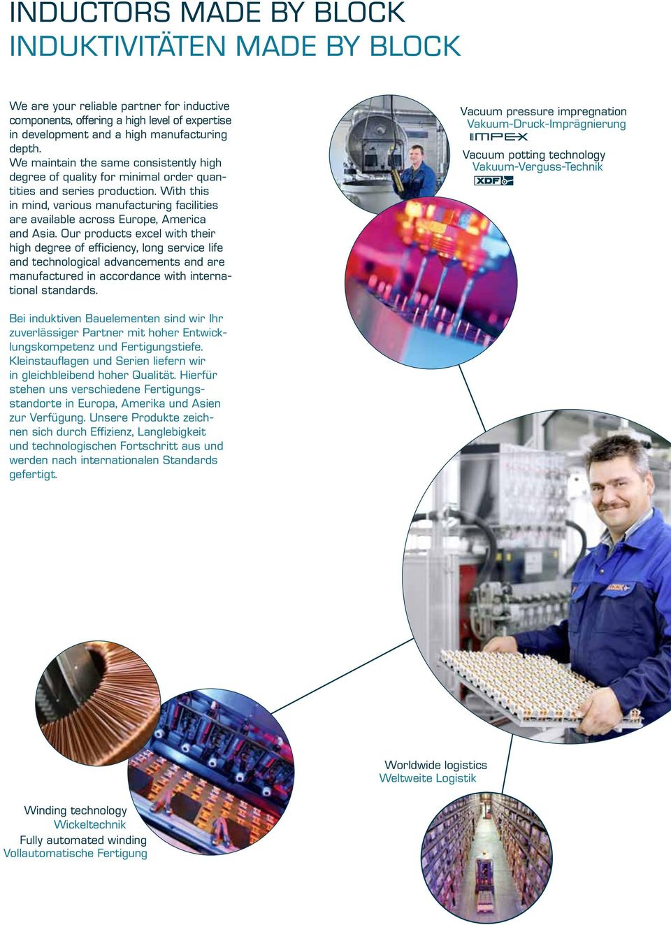 With this in mind, various manufacturing facilities are available across Europe, America and Asia.