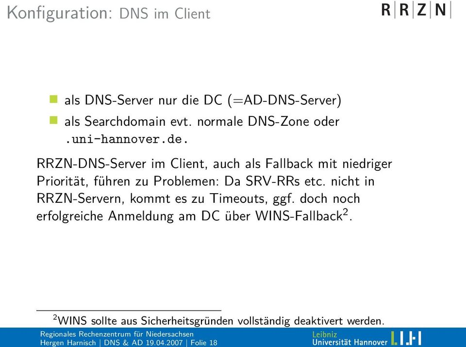 normale DNS-Zone oder