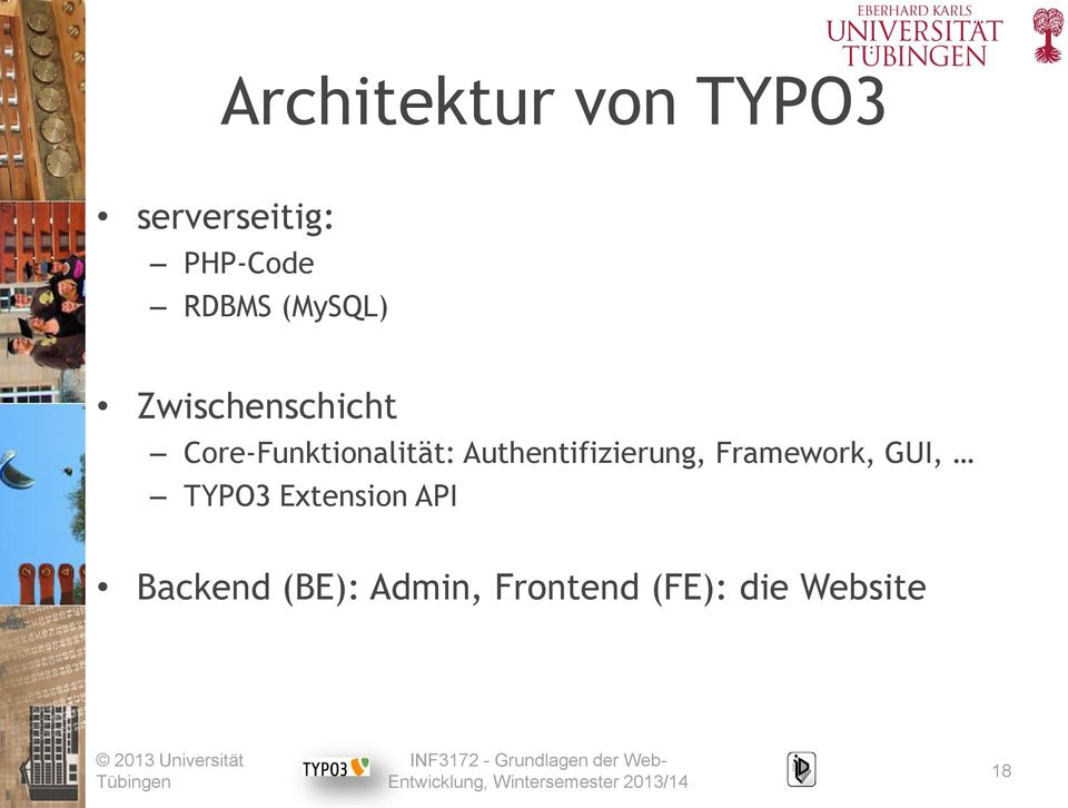 Authentifizierung, Framework, GUI, TYPO3 Extension