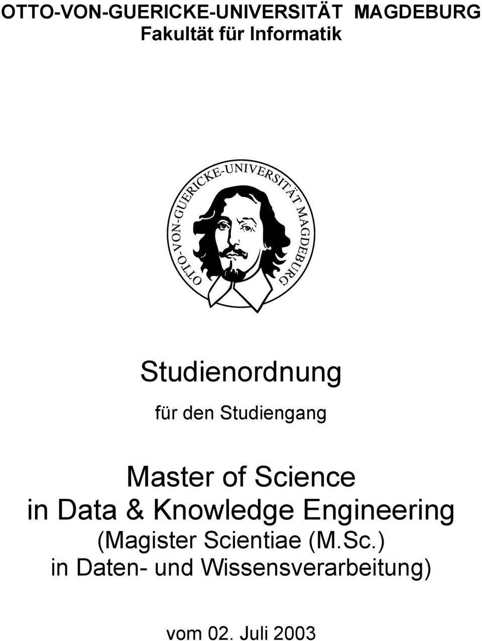 Science in Data & Knowledge Engineering (Magister