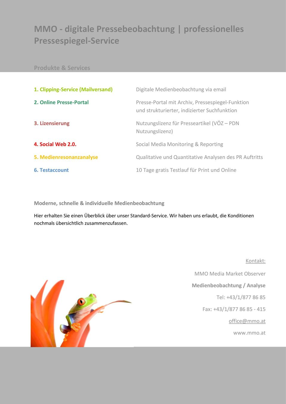 Social Web 2.0. Social Media Monitoring & Reporting 5. Medienresonanzanalyse Qualitative und Quantitative Analysen des PR Auftritts 6.