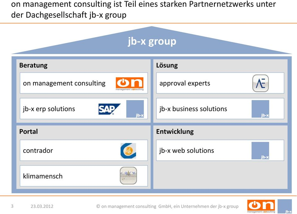 management consulting Lösung approval experts jb-x erp solutions