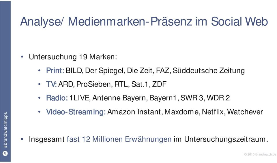 1, ZDF Radio: 1LIVE, Antenne Bayern, Bayern1, SWR 3, WDR 2 Video-Streaming: Amazon