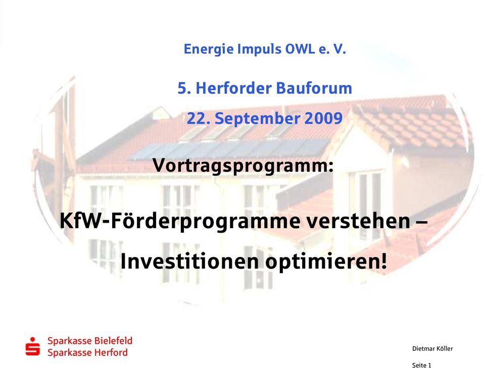 September 2009 Vortragsprogramm: