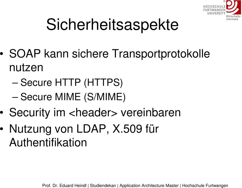 (HTTPS) Secure MIME (S/MIME) Security im