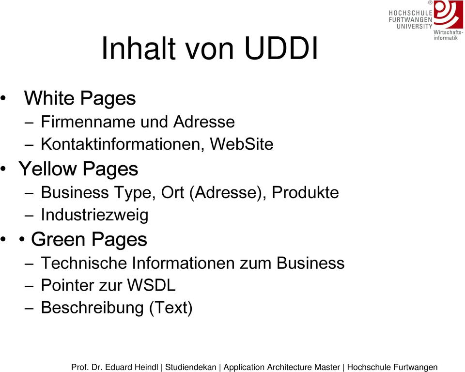 Ort (Adresse), Produkte Industriezweig Green Pages