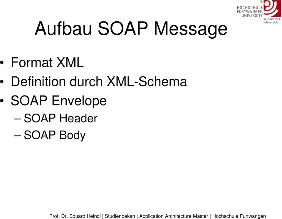 durch XML-Schema SOAP
