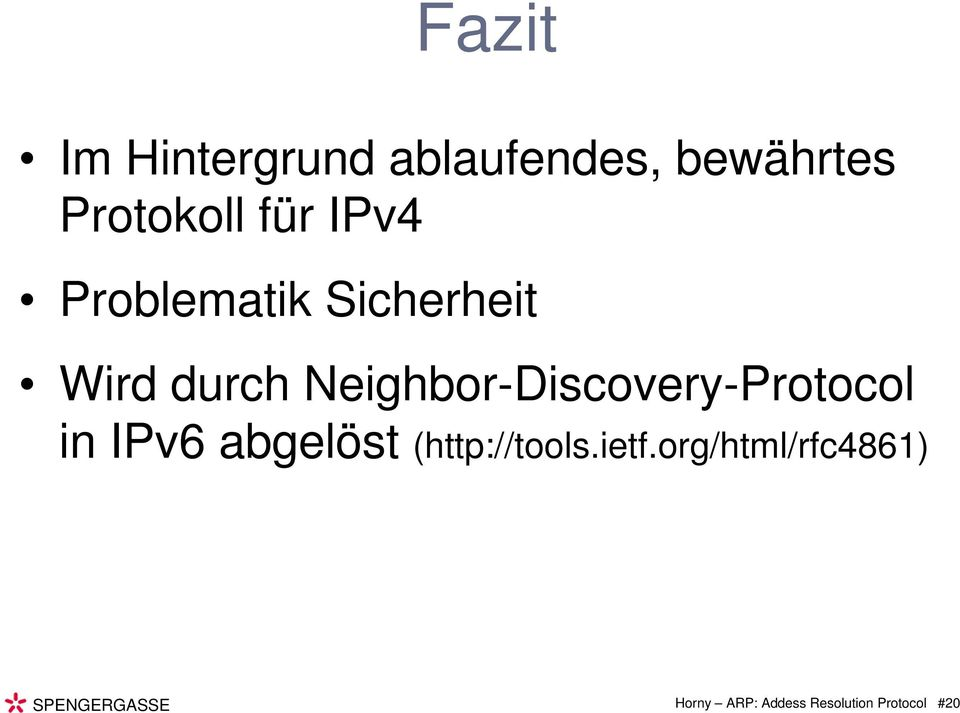 Neighbor-Discovery-Protocol in IPv6 abgelöst