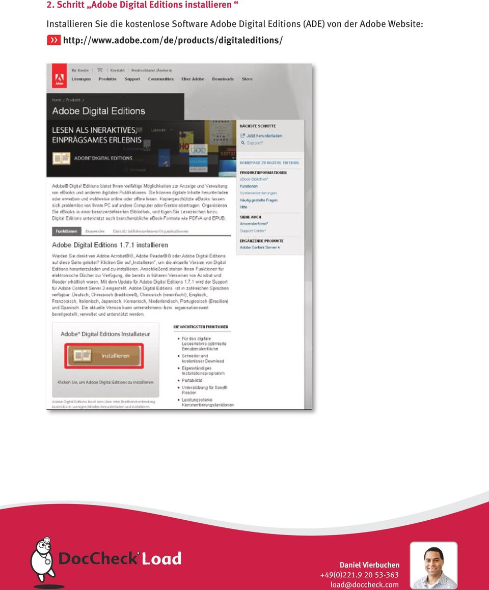 Digital Editions (ADE) von der Adobe Website: