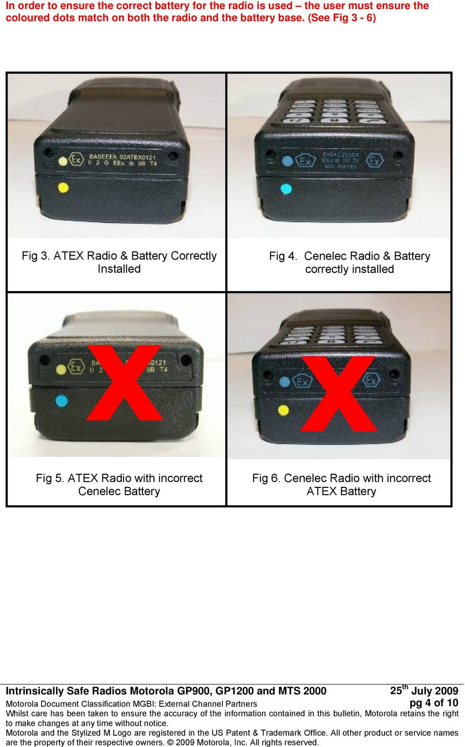 ATEX Radio & Battery Correctly Installed Fig 4.